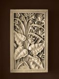 Tropical Frame Decoration. A decoration artwork with leaves and flowers Stock Photos