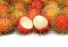 Tropical fruit. Close up Rambutan fruits royalty free stock photo