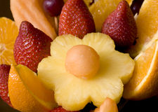 Tropical fruit arrangement Stock Images