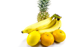 Tropical Fruit. Assortment of fresh, healthy, ripe tropical fruit Stock Images