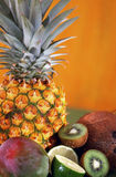 Tropical Fruit Background Stock Photo