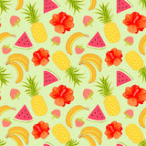 Tropical fruit background Stock Photography
