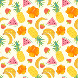 Tropical fruit background Royalty Free Stock Image