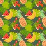 Tropical fruit background Stock Photo