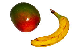 Tropical Fruit Banana And Mango. Isolated With PNG File Attached Stock Photo
