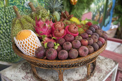 Tropical Fruit in the basket Royalty Free Stock Photography