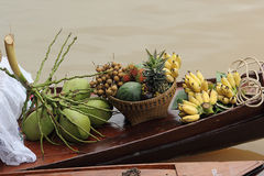 Tropical fruit on the boat Royalty Free Stock Image