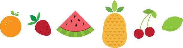 Tropical Fruit Border Stock Photos
