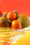 Tropical Fruit Bowl Stock Photo