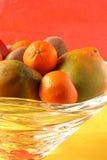 Tropical fruit bowl Stock Photo