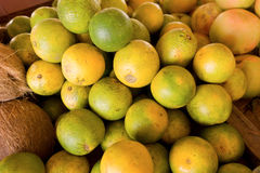 Tropical fruit in a caribbean market Royalty Free Stock Image