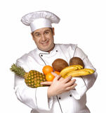 Tropical fruit chef. Stock Photography