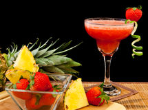 Tropical fruit cocktail Royalty Free Stock Image