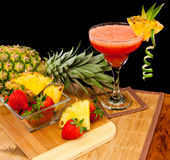 Tropical fruit cocktail Royalty Free Stock Photography