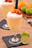 Tropical fruit cocktail. Stock Images