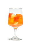 Tropical Fruit Cocktail Isolated on a White Backg Royalty Free Stock Image