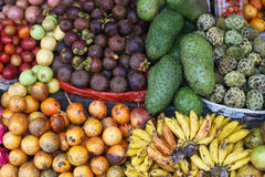 Tropical fruit on display in a market in Bali Royalty Free Stock Image