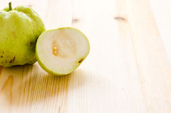 The tropical fruit high vitamin c, fresh guavas Stock Images