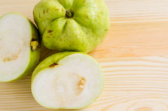 The tropical fruit high vitamin c, fresh guavas Royalty Free Stock Photo
