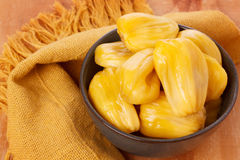 Tropical fruit Jackfruit (jakfruit, jack, jak). In bowl. Selective focus Stock Images