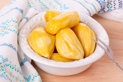 Tropical fruit Jackfruit jakfruit, jack, jak. In bowl. Selective focus Royalty Free Stock Photo