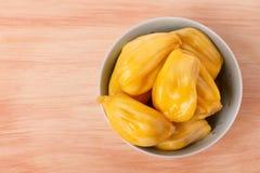 Tropical fruit Jackfruit (jakfruit, jack, jak) in bowl Royalty Free Stock Photography