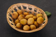 Tropical fruit longan stock image