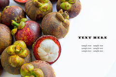 Tropical fruit, mangosteen Royalty Free Stock Photos