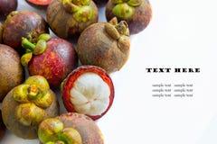 Tropical fruit, mangosteen Royalty Free Stock Photos