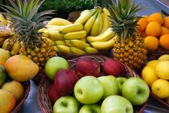 Tropical fruit at market Royalty Free Stock Photos
