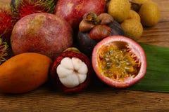 Tropical fruit mix Stock Images