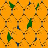 Tropical fruit pattern Stock Images