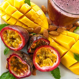 Tropical Fruit Plate Royalty Free Stock Photo