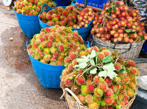 Tropical fruit, Rambutan Stock Photo