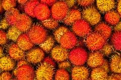 Tropical fruit rambutan Royalty Free Stock Photos