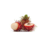 Tropical fruit : rambutan isolate on white background. Rambutan isolate on white background Royalty Free Stock Photos