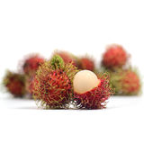 Tropical fruit : rambutan isolate on white background. Rambutan isolate on white background Stock Image