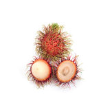 Tropical fruit : rambutan isolate on white background. Rambutan isolate on white background Royalty Free Stock Photo