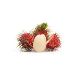 Tropical fruit : rambutan isolate on white background. Rambutan isolate on white background Stock Photo