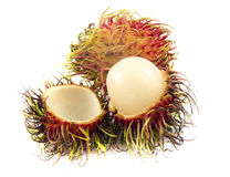 Tropical fruit, rambutan on white background. Tropical fruit, rambutan on isolate white background Stock Photo