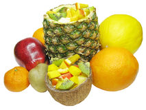 Tropical fruit salad Stock Photography