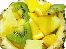 Tropical fruit salad Royalty Free Stock Image