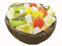 Tropical fruit salad Stock Images