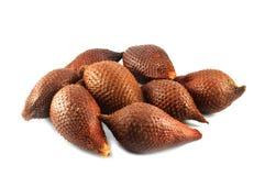 Tropical fruit - Salak fruit. One whole salak fruits isolated on white background Royalty Free Stock Images