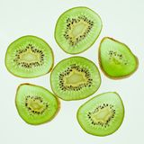Tropical fruit. Sliced kiwi. Kiwi. Still life. Juicy kiwi on white background stock photo