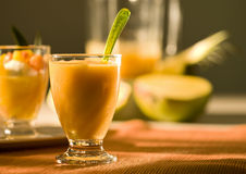 Tropical fruit smoothie Royalty Free Stock Photo