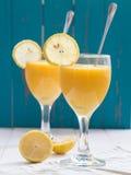 Tropical fruit smoothie Stock Photos