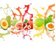 Tropical fruit splash Royalty Free Stock Photo
