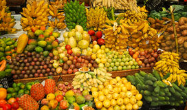 Tropical fruit stand Royalty Free Stock Photos