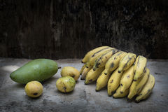 Tropical fruit still life, Stock Images